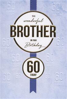 Brother 60th Birthday Card