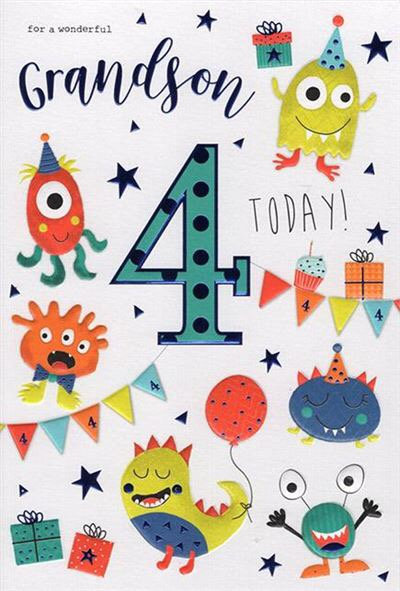 For a wonderful Grandson 4 today