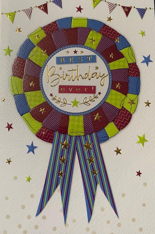 Male Birthday Card Best Birthday Ever FREE POSTAGE