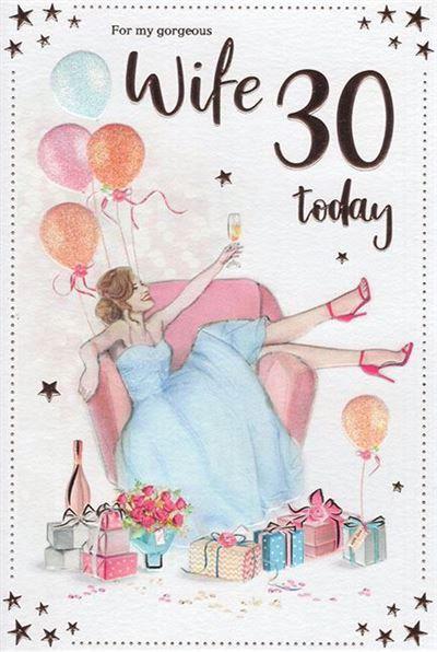 Wife 30th Birthday Card