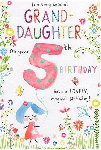 To a very special Grand Daughter on your 5th birthday