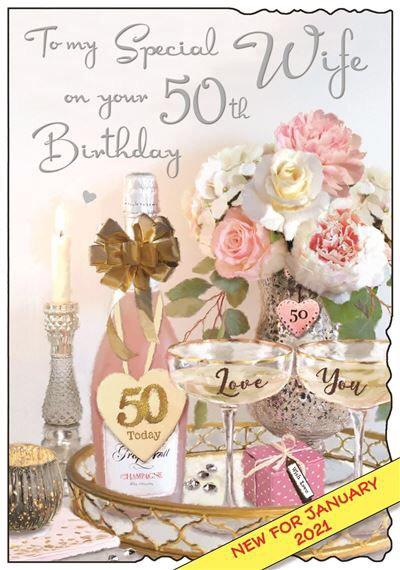 Wife 50th Birthday Card