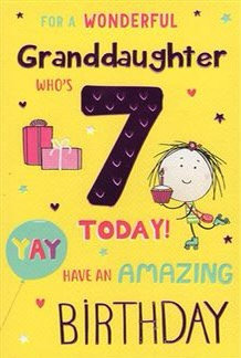 For a wonderful Granddaughter who's 7 today