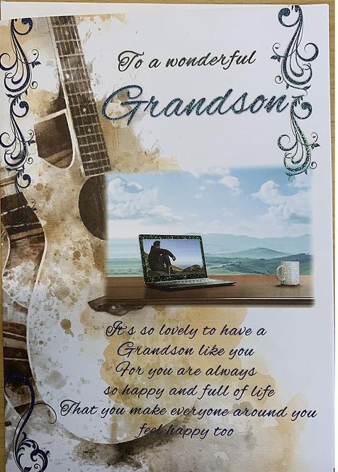To A Wonderful Grandson Sentiment Card