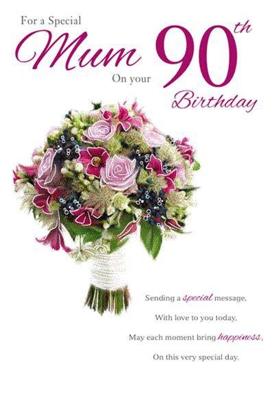 Mum 90th Birthday Card