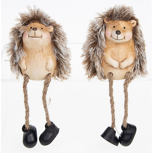 Happy Hedgehog Sitting Dangly Legs