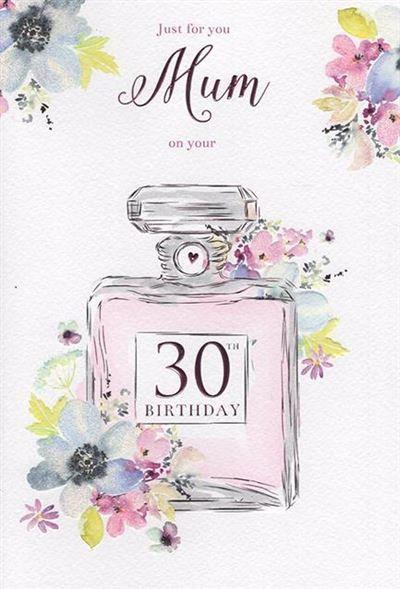 Mum 30th Birthday Card