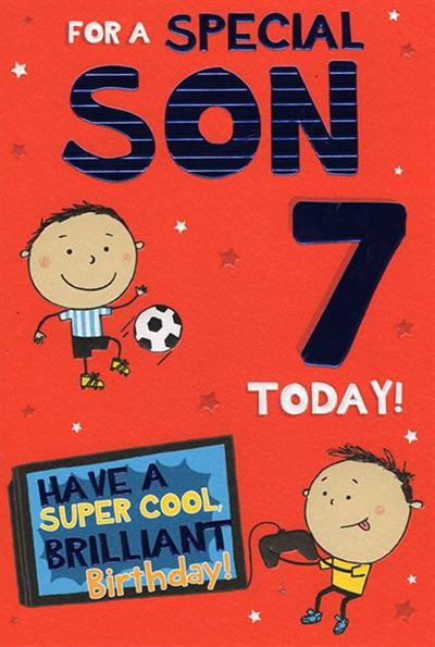 For a special Son 7 today