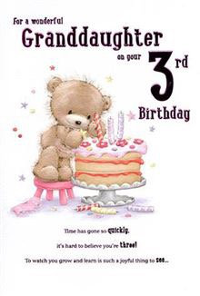 For a wonderful Granddaughter on your 3rd birthday