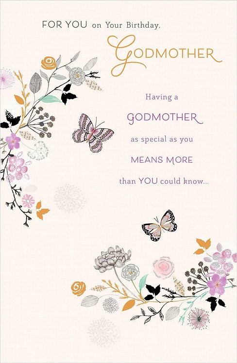 For you on your birthday Godmother