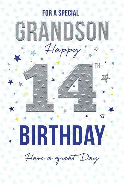 Grandson 14th Birthday card