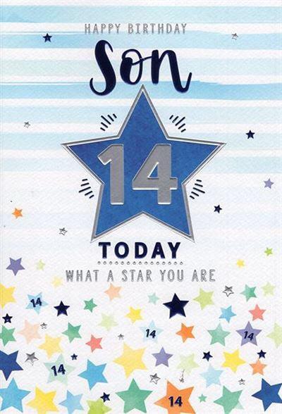 Son 14th Birthday Card
