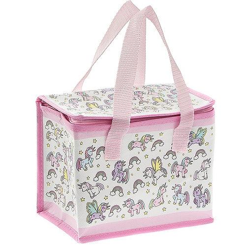 Childrens  Pink Unicorn / Blue vehicle Food Cool Bag