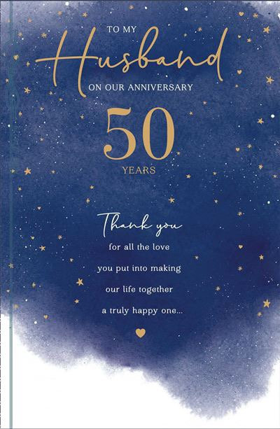 To My Husband On Our Anniversary 50 Years