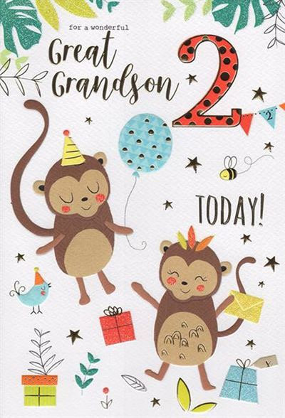 For a wonderful Great Grandson 2 today