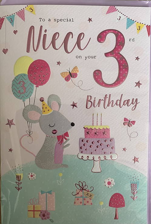 To a special niece on your 3rd birthday