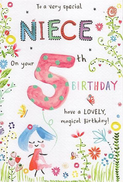 To a very special Niece on your 5th birthday