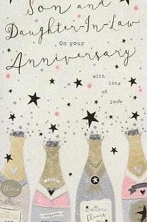 Son & Daughter-in -law Wedding Anniversary Card