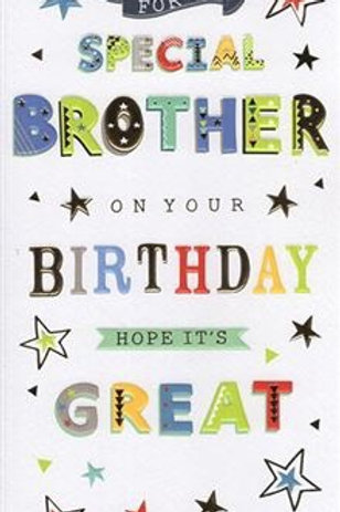 Special Brother Birthday Card