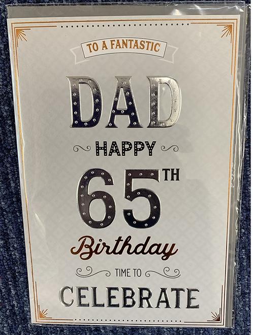 Dad 65th Burthday Card