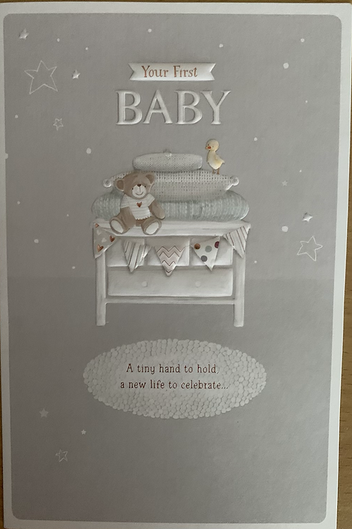 Your First New Baby Card Beautiful