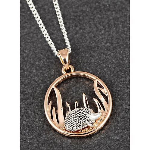 Equilibrium Country Hedgehog Round Two Tone Necklace FREE POSTAGE