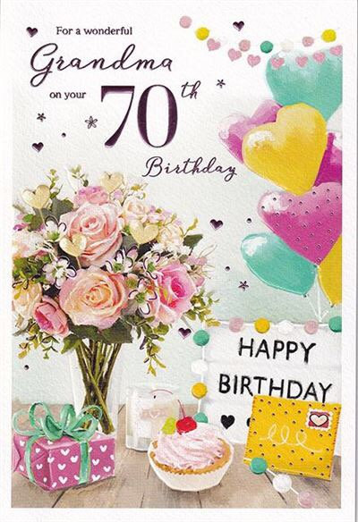Grandma 70th Birthday Card