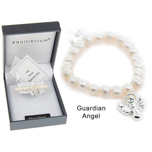 Equilibrium Fresh Water Pearl Guardian Angel Bacelet Boxed FREE POSTAGE