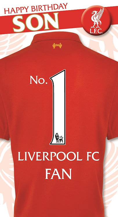 Son Liverpool FC Fan Birthday Card with Badge
