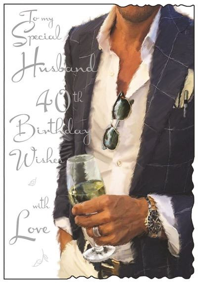 Husband 40th Birthday Card