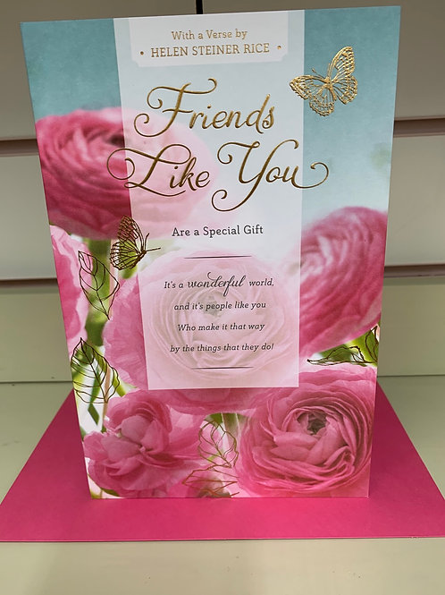 Open Female Friends Like You Are A Special Gift Card Verse by Helen Steiner Rice