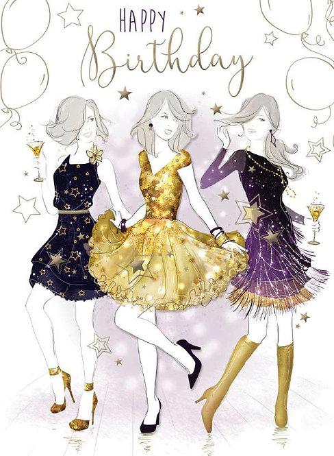 Happy Birthday Female Decoupage Card