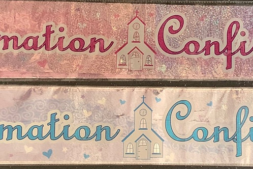 Confirmation Banners Available in Blue & Pink
