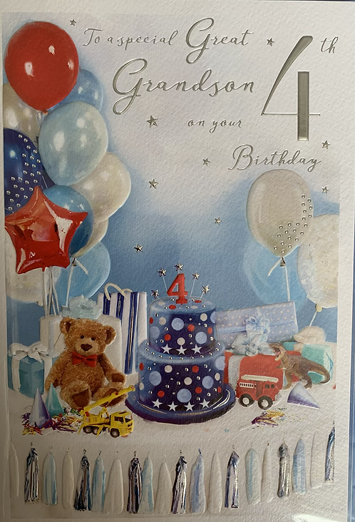 To a special Great Grandson on your 4th Birthday