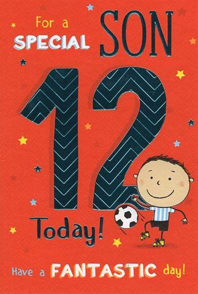 Son 12th Birthday Card