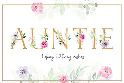 Aunt Happy Birthday Wishes