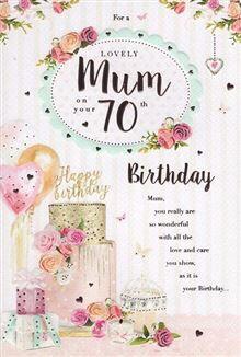 Wife 70th Birthday Card