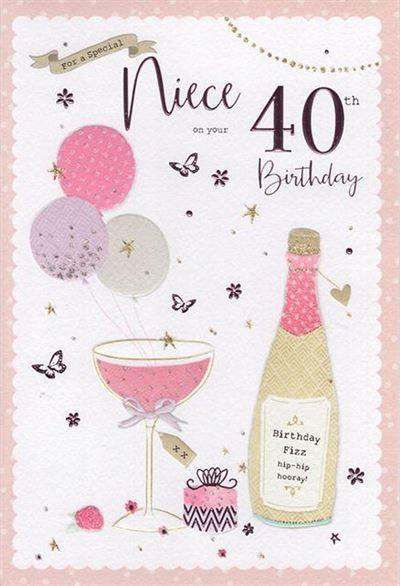 Niece 40th Birthday Card