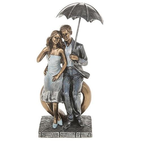 Rainy Day Romance Sitting Ornament Couple