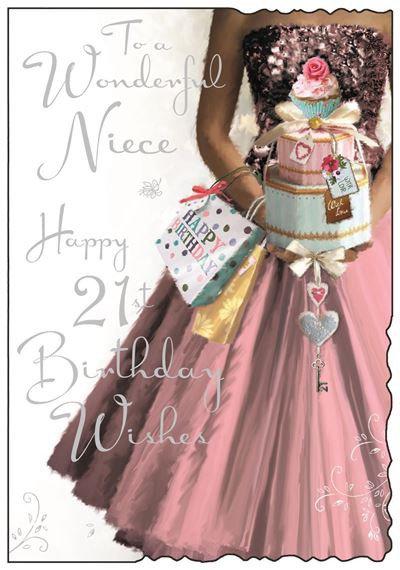 Niece 21st Birthday Card
