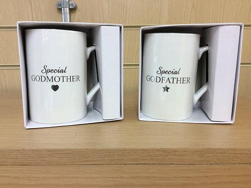 Godfather or Godmother White Beaker Boxed