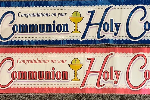 Gid Bless You On Your Holy Communion Banners