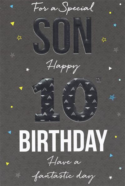 For a Special Son Happy 10th Birthday