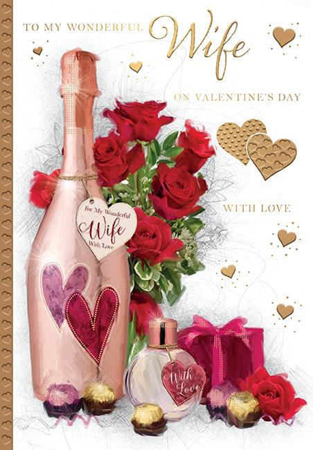 To My Wonderful Wife On Valentine's Day With Love