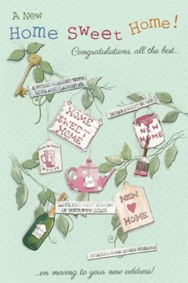 A new home card. Home sweet home.  Our cards are sourced from most leading card