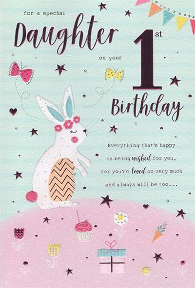 For a special Daughter on your 1st birthday