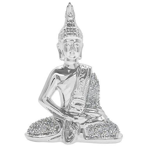 Silver Sparkle Thai Small Buddha