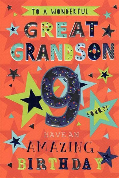 To a wonderful Great Grandson @ today