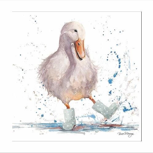 Deidre The Duck In Wellingtons Blank card