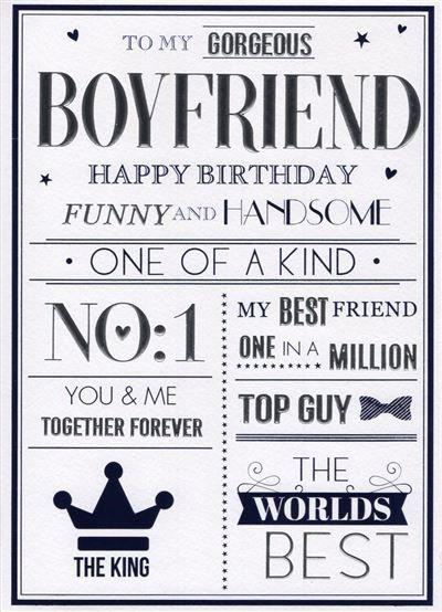 To my gorgeous boyfriend Happy Birthday
